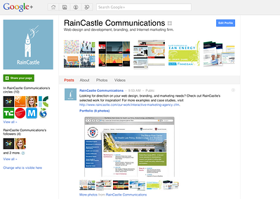 RainCastle Google  page