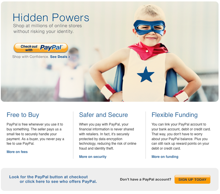 PayPal call-to-action