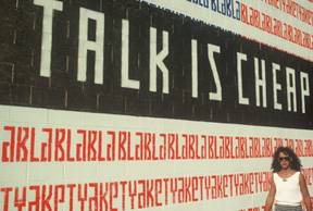 Talk Is Cheap Sign