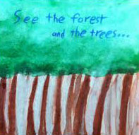forest through the trees